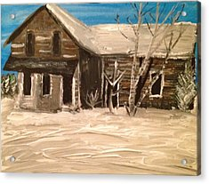 Acrylic Print featuring the painting Old House by Paula Brown