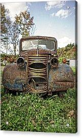Old Junker Car Acrylic Print by Edward Fielding