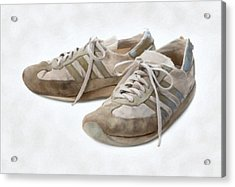Old Running Shoes Acrylic Print
