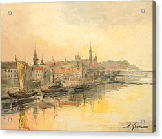 Old Warsaw - Wisla River Acrylic Print