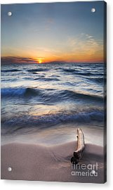 Onekama Sunset Acrylic Print by Twenty Two North Photography