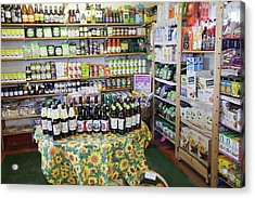 Organic Farm Shop Display Acrylic Print