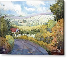Out Santa Rosa Creek Road Acrylic Print
