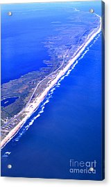 Outer Banks Aerial Acrylic Print by Thomas R Fletcher