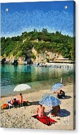 Paleokastritsa Beach Acrylic Print