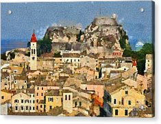 Old City Of Corfu Acrylic Print by George Atsametakis