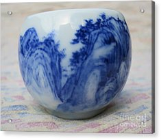 Painting On Ceramic Acrylic Print