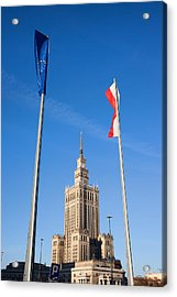 Palace Of Culture And Science In Warsaw Acrylic Print by Artur Bogacki