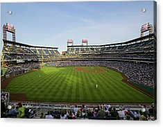 Panoramic View Of 29,183 Baseball Fans Acrylic Print