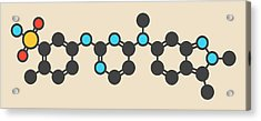 Pazopanib Cancer Drug Molecule Acrylic Print by Molekuul
