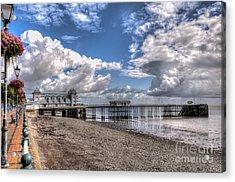 Penarth Pier 3 Acrylic Print by Steve Purnell