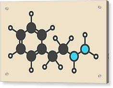 Phenelzine Antidepressant Molecule Acrylic Print by Molekuul