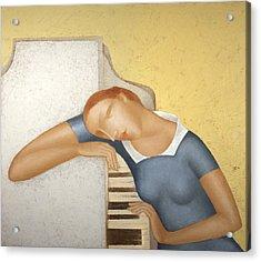 Piano Acrylic Print by Nicolay  Reznichenko