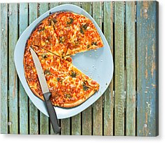 Pizza Acrylic Print by Tom Gowanlock