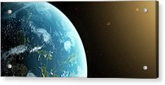 Planet Earth Acrylic Print by Sciepro