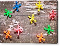 Plastic Toys Acrylic Print by Tom Gowanlock