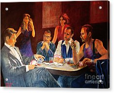 Pokertable Acrylic Print by Dagmar Helbig