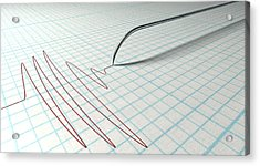 Polygraph Needle And Drawing Acrylic Print