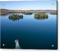 Pontoon Boat On Big Cedar Lake Acrylic Print by Rob Huntley