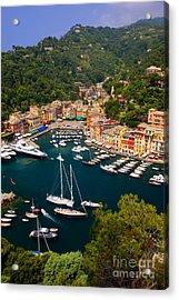 Portofino Acrylic Print by Brian Jannsen
