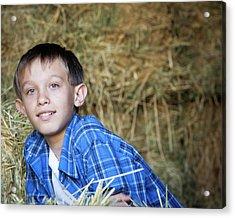 Portrait Of A Young Boy Acrylic Print