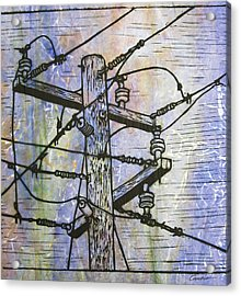 Power Lines Acrylic Print by William Cauthern