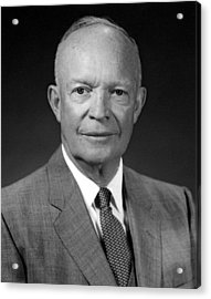 President Dwight Eisenhower  Acrylic Print by War Is Hell Store