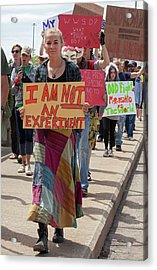 Protest Against Gm Crops Acrylic Print by Jim West