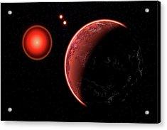 Proxima B Planet Orbiting The Proxima Acrylic Print by Mark Stevenson