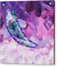 Purple Koi Acrylic Print