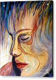 Purple Rain Acrylic Print by Diana Bursztein