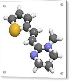 Pyrantel Antinematodal Drug Molecule Acrylic Print