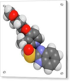 Rabeprazole Gastric Ulcer Drug Molecule Acrylic Print by Molekuul