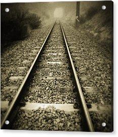 Railway Tracks Acrylic Print by Les Cunliffe