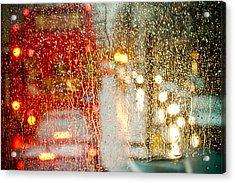 Rainy Day In London Acrylic Print