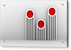3 Red Illuminators Acrylic Print by Igor Kislev