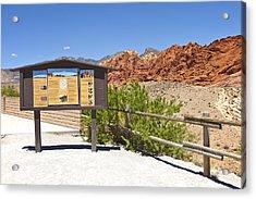 Red Rock Canyon Nevada. Acrylic Print by Gino Rigucci