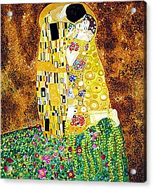 Reproduction Of - The Kiss By Gustav Klimt Acrylic Print