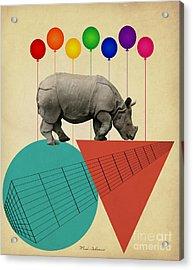 Rhino Acrylic Print by Mark Ashkenazi