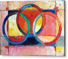 3 Rings II Acrylic Print by Mark Opdahl