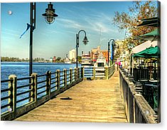 Acrylic Print featuring the photograph River Walk by Ed Roberts