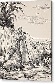 Robinson Crusoe Acrylic Print