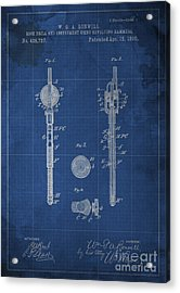 Rock Drill And Instrument Using Revolving Hammers Acrylic Print