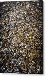 Rocks In Water Acrylic Print