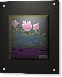 3 Roses Acrylic Print by Ines Garay-Colomba