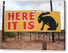 Route 66 - Jack Rabbit Trading Post Acrylic Print