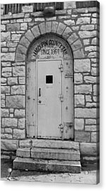 Route 66 - Macoupin County Jail Acrylic Print by Frank Romeo