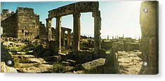 Ruins Of The Roman Town Of Hierapolis Acrylic Print by Panoramic Images