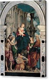 Sacchis Giovanni Antonio De Known As Il Acrylic Print by Everett