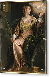 Saint Catherine Of Alexandria In Prison Acrylic Print by Paolo Veronese